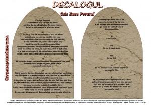 Decalogul sau Cele Zece Porunci Dumnezeiesti, traducerea Gala Galaction