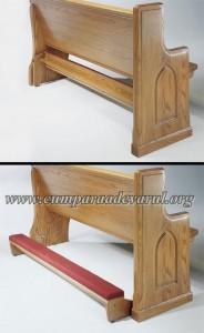 Rugaciunea pe genunchi - banca biserica adaptata pentru aceasta practica