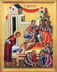 Iisus spala picioarele apostolilor