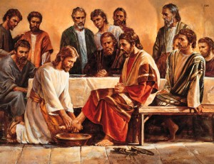 Iisus spaland picioarele ucenicilor - Cina cea de taina
